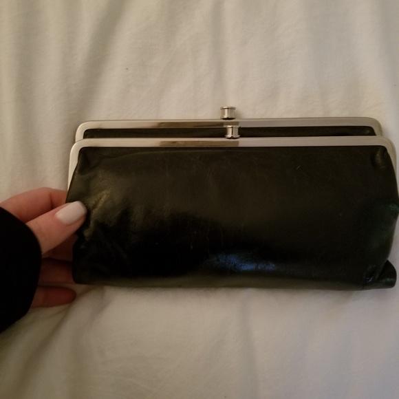 Hobo Bags Lauren Leather Double Frame Wallet Clutch Poshmark